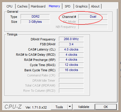 how to read cpu z memory