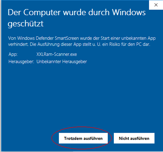 Defender Sicherheitswarnung Yep Windows