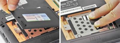 Richtiges Ausrasten der Festplatten Kontakte